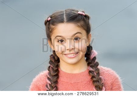 Sincere Emotional Kid. Girl Surprised Emotional Face. What A Surprising News. Childhood And Happines