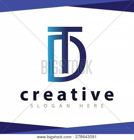 D T Letter Logo Vector Template, Vector Stock