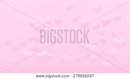 3d hearts background. Valentines day. Love wallpaper. Wedding. Engagement. Datting. Romantic poster.
