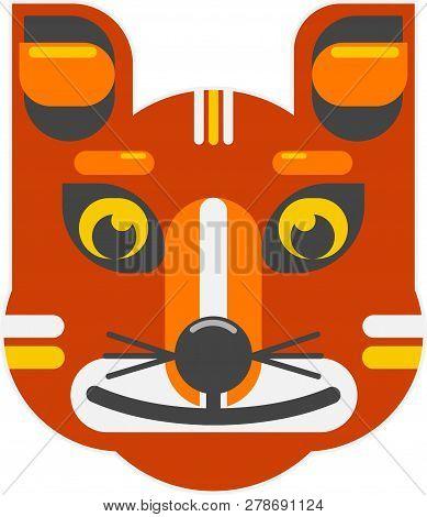 Foxy Red Fox 2d Flat Design Vector