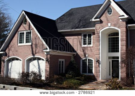 Modern Large Brick Home