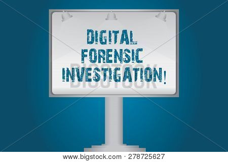 Handwriting Text Digital Forensic Investigation. Concept Meaning Recovery Of Information From Comput