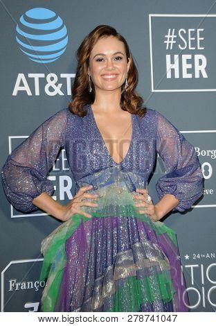 Dina Shihabi at the 24th Annual Critics' Choice Awards held at the Barker Hangar in Santa Monica, USA on January 13, 2019.