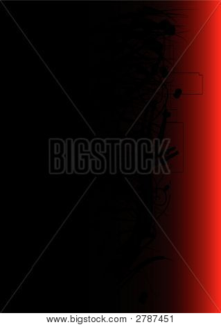 Dark red vector background with grunge elements poster