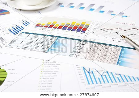 charts of growth, paperworks