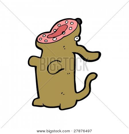hungry dog cartoon