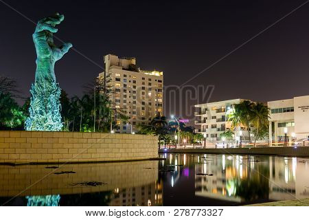 Miami Beach, Florida, Usa - January 5th, 2019, The Holocaust Memorial. The Memorial Consists Of Seve