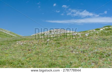 Spring Landscape In Chatyr-dah Mountainous Massif In Crimean Peninsula