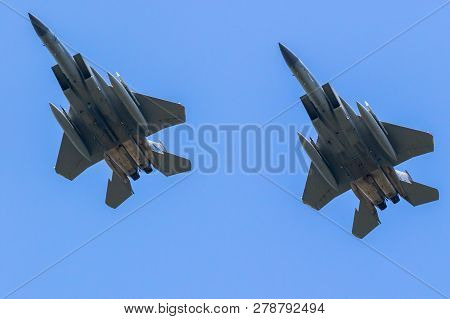 Us Air Force Fighter Jet Formation Flight