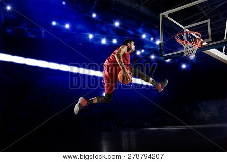 Basketball player. Basketball concept
