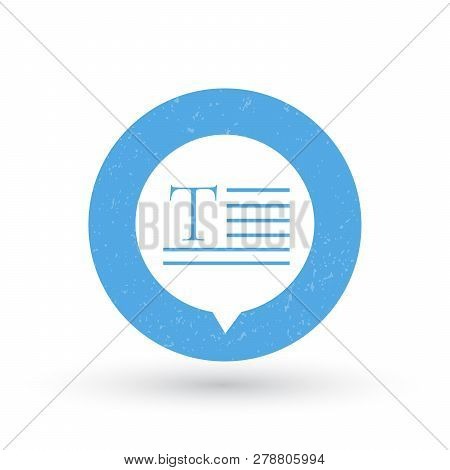 Stylish Blue Speech To Text Or Text To Speech, Speech Notes Bubble Icon. Voice To Text, Text To Voic