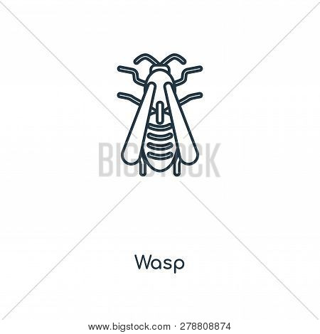 Wasp Icon In Trendy Design Style. Wasp Icon Isolated On White Background. Wasp Vector Icon Simple An