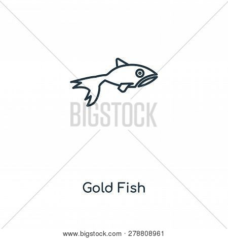 Gold Fish Icon In Trendy Design Style. Gold Fish Icon Isolated On White Background. Gold Fish Vector