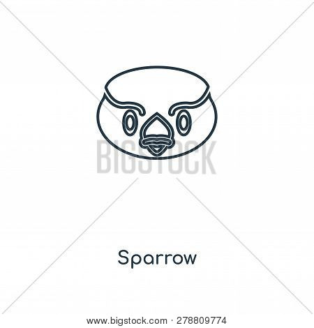 Sparrow Icon In Trendy Design Style. Sparrow Icon Isolated On White Background. Sparrow Vector Icon