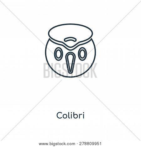 Colibri Icon In Trendy Design Style. Colibri Icon Isolated On White Background. Colibri Vector Icon