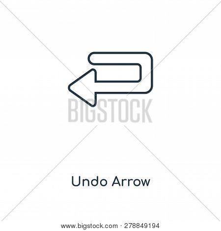 Undo Arrow Icon In Trendy Design Style. Undo Arrow Icon Isolated On White Background. Undo Arrow Vec