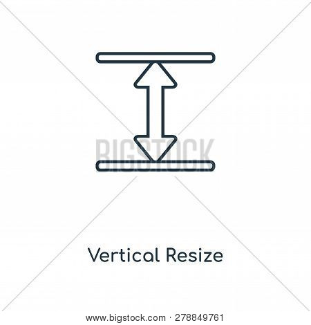 Vertical Resize Icon In Trendy Design Style. Vertical Resize Icon Isolated On White Background. Vert