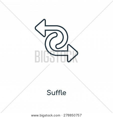 Suffle Symbol Icon In Trendy Design Style. Suffle Symbol Icon Isolated On White Background. Suffle S