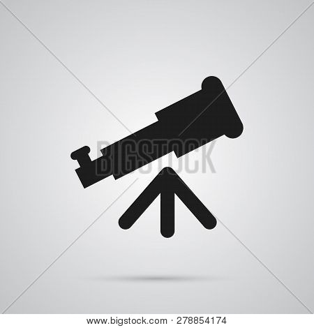 Isolated Telescope Icon Symbol On Clean Background. Vector Binoculars Element In Trendy Style.