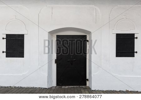 Windows And Door Of A Traditional Granary In Blatnica Village, Northern Slovakia.