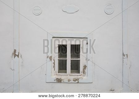 Window Of A Traditional Cottage In A Village Of Turiec Region In Northern Slovakia.