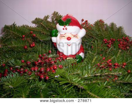 Christmas Wreath & Santa