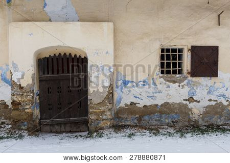 Window And Door Of A Traditional Granary In Bela-dulice Village, Northern Slovakia.