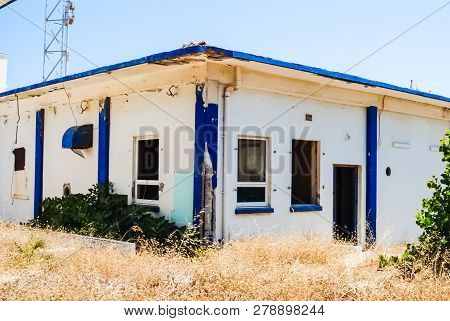 Abandoned Us Air Force Base Crete, Greece. Abandoned Buildings And Structures Have Fallen Into Disre