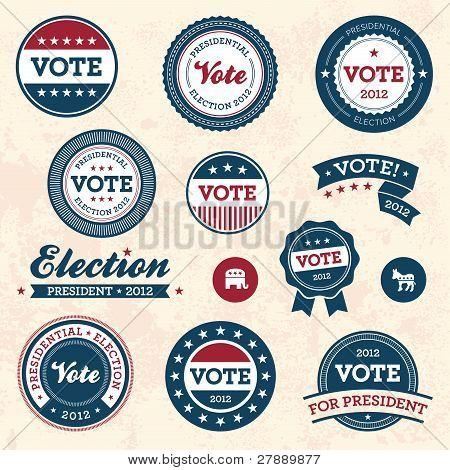 Vintage Election Badges