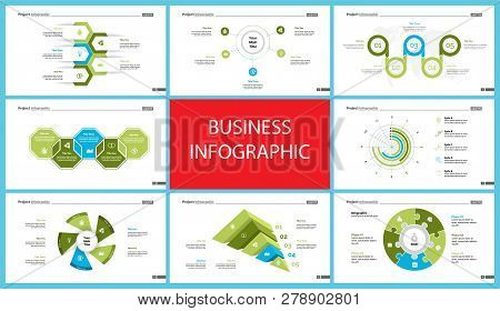 Creative Infographic Diagrams With Geometric Elements For Project Management Concept. Can Be Used Fo