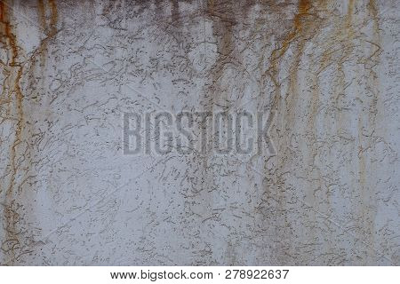 Gray Brown Texture From Dirty Plastered Wall