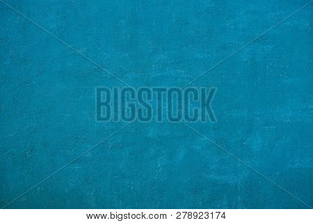 Blue Gray Background Of Paint On Old Metal Wall