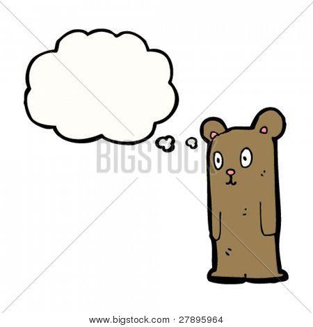 cartoon odd little bear