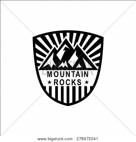 Mountain Logo Template. Vector Design Element Modern Style For Logotype, Label, Badge, Emblem. Mount