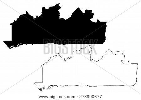 Kongo Central Province (democratic Republic Of The Congo, Dr Congo, Drc, Congo-kinshasa) Map Vector