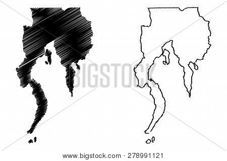 Davao Region (regions And Provinces Of The Philippines, Republic Of The Philippines) Map Vector Illu