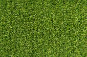 Green carpet texture background. Surface green microfiber plastic carpet mat background pattern design. Green grass artificial carpet background golf field courses. Green texture abstract background poster