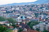 Sarajevo, the capital city of Bosnia and  Herzegovina poster