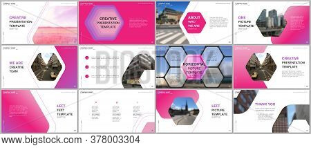 Minimal Presentations Design, Portfolio Vector Templates With Hexagonal Design Background, Hexagon S