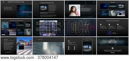 Vector Templates For Website Design, Presentations, Portfolio. Templates For Trendy Technology Desig