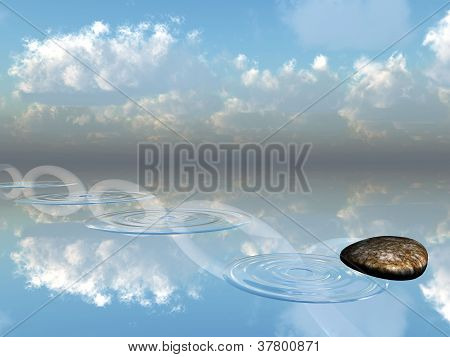 ricochets of a stone