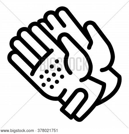 Ski Gloves Icon. Outline Ski Gloves Vector Icon For Web Design Isolated On White Background