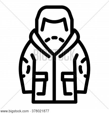 Ski Jacket Icon. Outline Ski Jacket Vector Icon For Web Design Isolated On White Background
