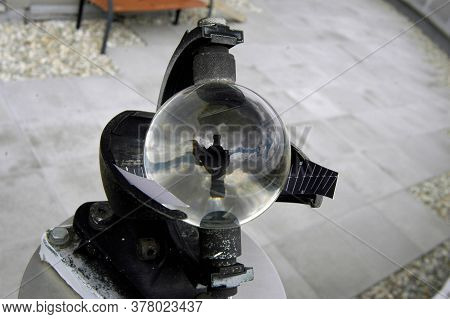 Heliograph Or Sunshine Recorder, Glass Ball That Records The Amount Of Sunshine