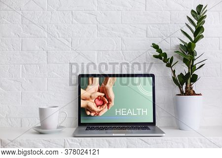 Adult And Child Hands Holding Red Heart, Health Care, Donate And Family Insurance Concept, World Hea