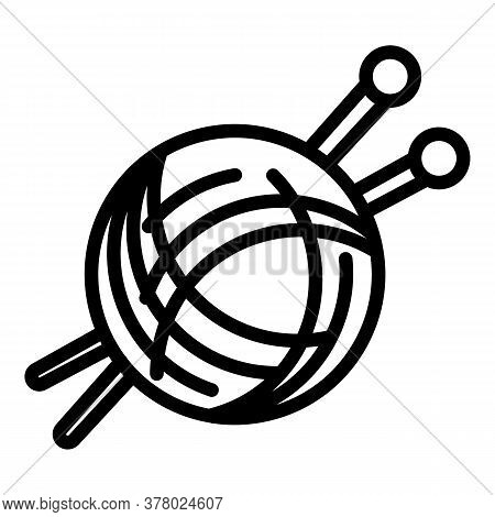 Thread Icon. Outline Thread Vector Icon For Web Design Isolated On White Background