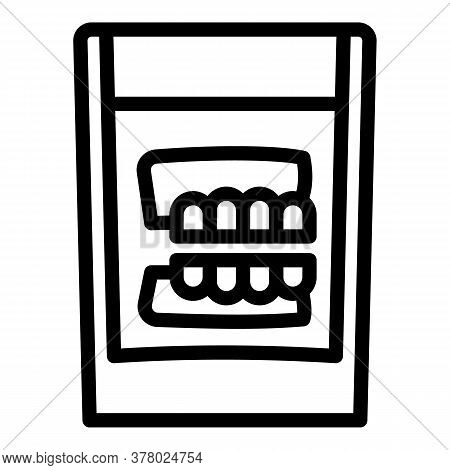 False Jaw In Glass Icon. Outline False Jaw In Glass Vector Icon For Web Design Isolated On White Bac