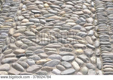 Cobblestone Pavement Of A Walkaway