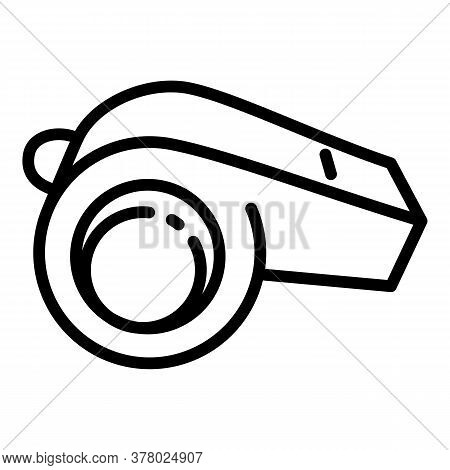 Whistle Icon. Outline Whistle Vector Icon For Web Design Isolated On White Background