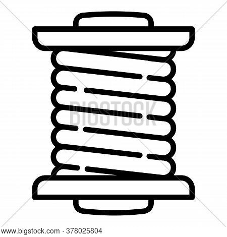 Cord Coil Icon. Outline Cord Coil Vector Icon For Web Design Isolated On White Background